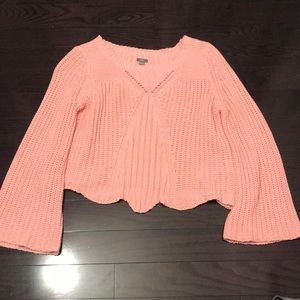 Pink Aerie Flared Sleeve Sweater